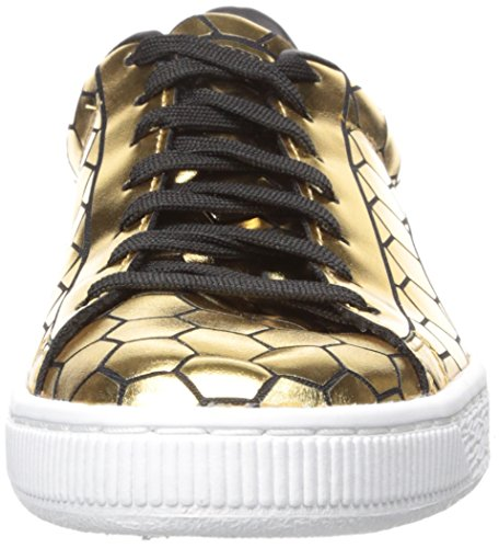 Puma Womens Basket Classic Metallic Wns Fashion Sneaker Goud