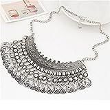 TraveT Numismatic Coins Necklace Gypsy Bohemian Vintage Temperament Jewelry Bib Statement Necklace