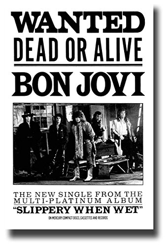 Concert Promoter Bon Jovi Poster Album Promo 11 x 17 inches for Wanted Dead or Alive