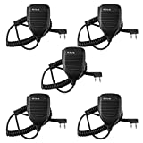 Retevis 2 Pin Shoulder Mic Speaker Mic Microphone Compatible with Baofeng BF-888S UV-5R Kenwood Retevis H-777 RT21 RT22 RT5 RT-5R H-777S Arcshell AR-5 Walkie Talkie (5 Pack)