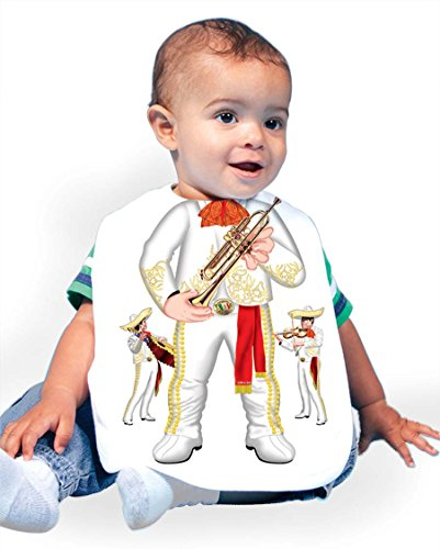 Just Add A Kid Baby Boy's Mariachi Band White 069 Baby Bib 0-6 Months White