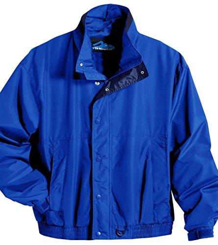 (Tri-Mountain Men's Toughlan Nylon Jacket. 6800 Back Country Imperial Blue/Navy)