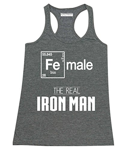 Female Real Iron Man Funny Elements Women's Tank Top, S, H. - Ironman Wtc