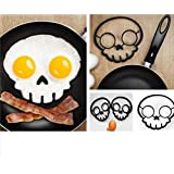 Breakfast Omelette Mold Silicone Egg Pancake Ring Shaper Cooking Tool DIY Kitchen Accessories Gadget Egg Fired Mould (Skull)