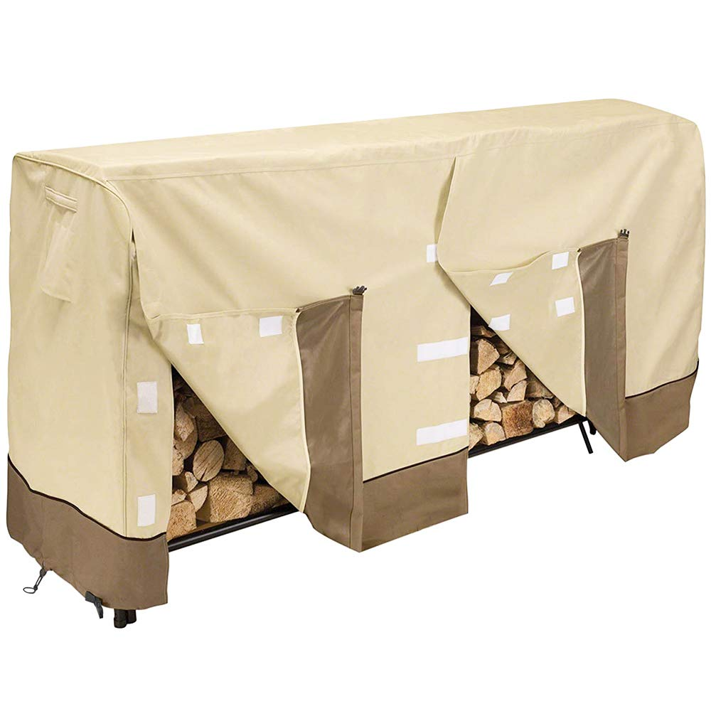 Give Me Heavy Duty Log Rack Cover 8FT, Waterproof Firewood Cover Outdoor Fits L96 x W24 x H42 Inches by Give Me