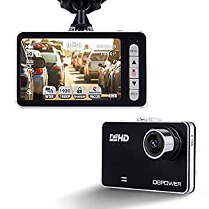 "DBPOWER 2.7"" Dash Cam, 120° Wide Angle 1080P Car On-dash Video Recorder G-sensor Vehicle Camera Camcorder with 4X Zoom Lens Motion Detection Support up to 32GB C10 Micro SD Card (Not Included)"
