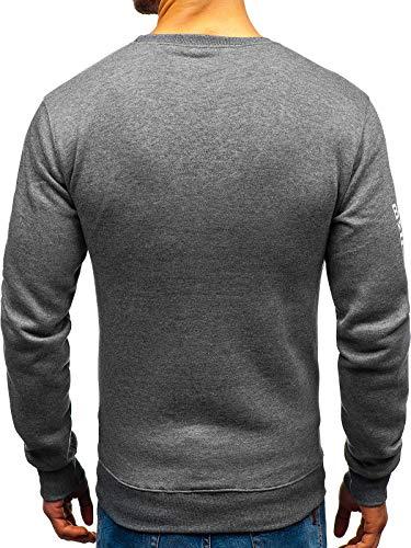 Bolf dd376 Le Sweatshirt Capuche Foncé Col La Style Sans Gris Inséré Travers Tête Sportif Rond Imprimé À 1a1 Homme 4w41rCq