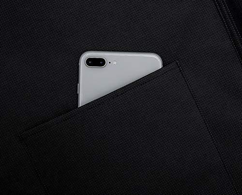 Zireem Kleidersack inkl. kostenlosem Schuhbeutel | Premium Stabil Anzugtasche | Kleiderhülle | Atmungsaktiv | Hochwertiger Anzugsack | Schwarz | 110 × 60 cm |