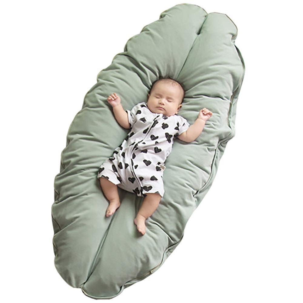 Chusangsst Baby Pillow Baby Crib Mattress Newborn Baby and Infant for Feeding and Support Head,Pregnant Woman's Pillow Protects The Waist (Color : Green) by Chusangsst