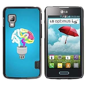 Be Good Phone Accessory // Dura Cáscara cubierta Protectora Caso Carcasa Funda de Protección para LG Optimus L5 II Dual E455 E460 // Funny Brain Light