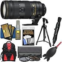 Nikon 70-200mm f/2.8E FL VR AF-S ED Zoom-Nikkor Lens with Backpack + Tripod + 3 Hoya UV/CPL/ND8 Filters + Kit