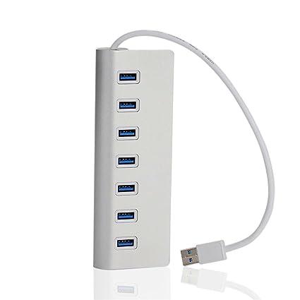 SmartEra® Diseño portátil 7 puertos USB dispensador del zócalo del enchufe Para Mac iMac libro