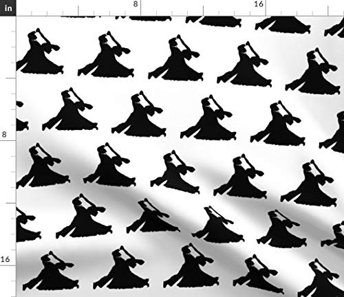 (Spoonflower Ballroom Dancing Fabric - Ballroom Dancing Dancing Couples Courtship Thin Line Textiles Dancer Waltz Tango by Thinlinetextiles Printed on Petal Signature Cotton Fabric by The Yard)