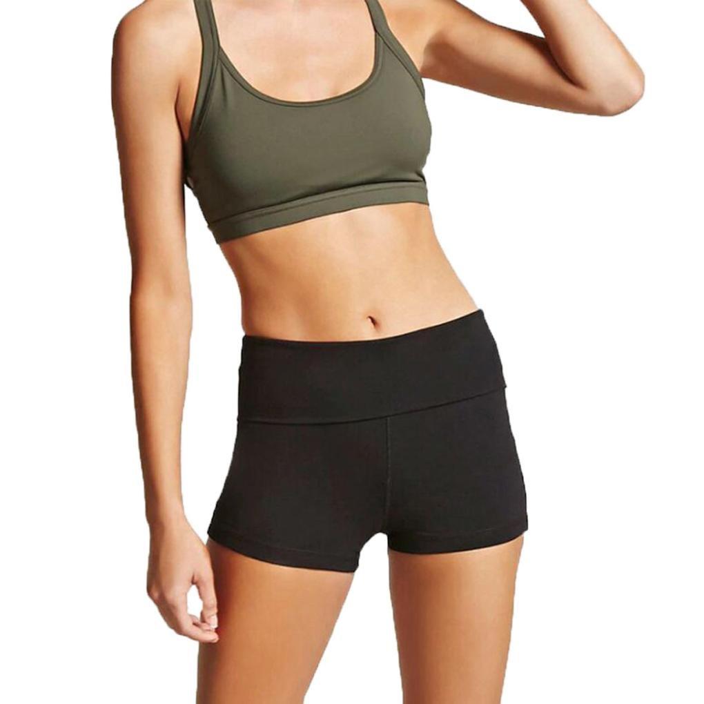 TUDUZ Yoga Elastische Sport Shorts Frauen Beiläufige Taille kurze Hosen