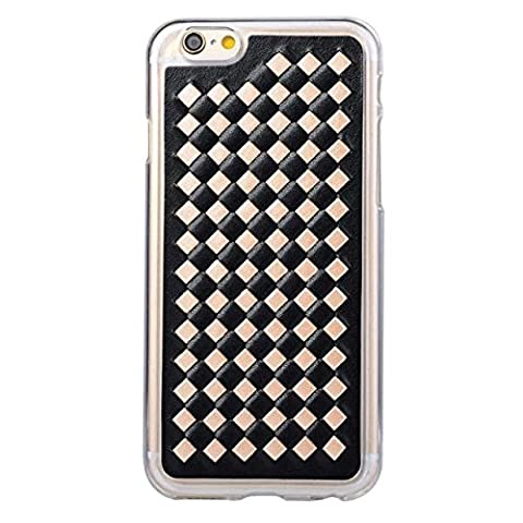 IBTS®Grid silicone TPU +Leather phone case for iphone6 6s 6plus 6splus (i6/6s, Creamy-white) (Alcatel Android 4g Fierce 2)