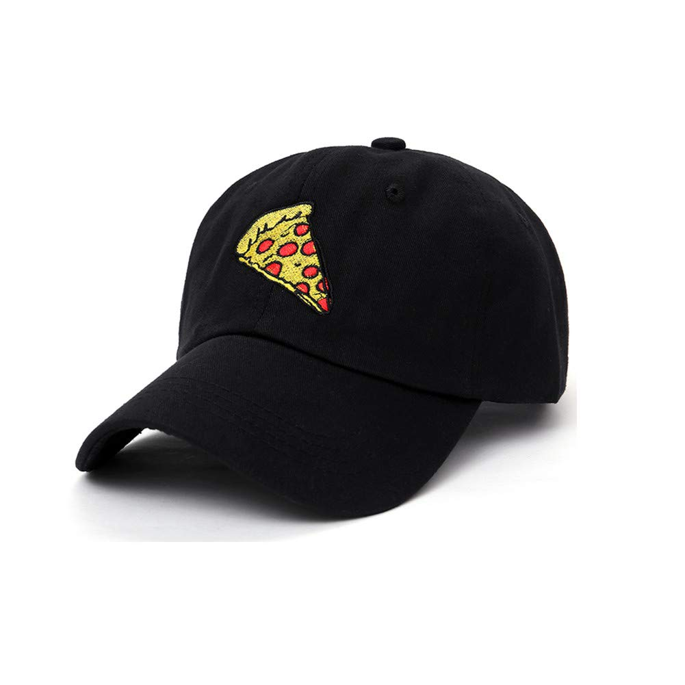 Pepperoni Pizza Embroidery Baseball Cap Dad Hat Unisex Adjustable Hip hop Food Hat