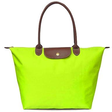 BEKILOLE - Cartera de mano para mujer Verde lime green large: Amazon.es: Ropa y accesorios