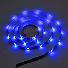 Fosa 1Meter USB Waterproof 5050 LED Background Light Strip Tape For TV And Computer (Blue)