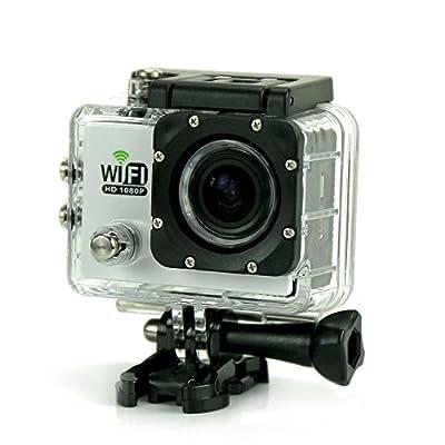 Uniquer Sport DV SJ6000 WiFi 12MP 170 Degree 1080P Digital Waterproof Helmet Sports Action Car Camera White