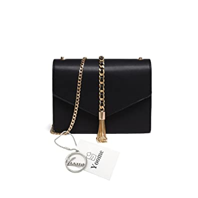 7e400f8a079c Yoome Pure Color Flap Bag Retro Tassel Envelope Bags For Women Leather  Chain Bags For Girls