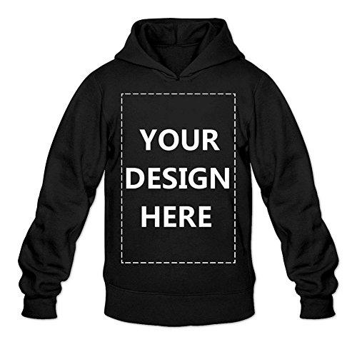 Man Custom Pullover Hoodie Design Your Own Hooded Sweatshirt Customized Hoodies Black XL (Custom Hoodie)
