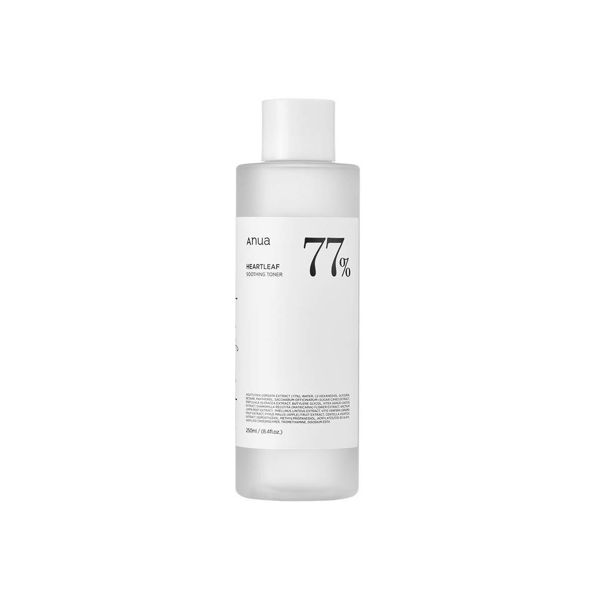Anua Heartleaf 77% Soothing Toner I pH 5.5 Skin Trouble Care, Calming Skin, Refreshing, Purifying (250ml / 8.45 fl.oz.)