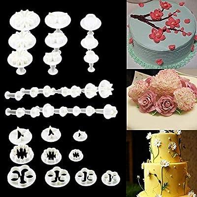 Sungpunet - Juego de 33 moldes para máquina de Cortar Fondant de azúcar, decoración de Tartas: Amazon.es: Hogar