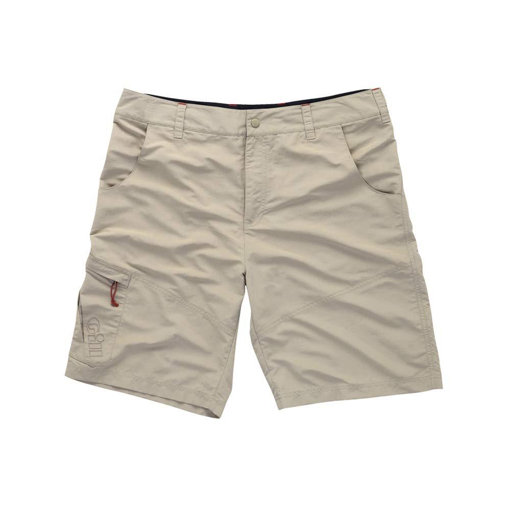 Gill Men's UV ProTec Sun Protective Quick-Drying Sailing Shorts, Khaki, X-Large by Gill
