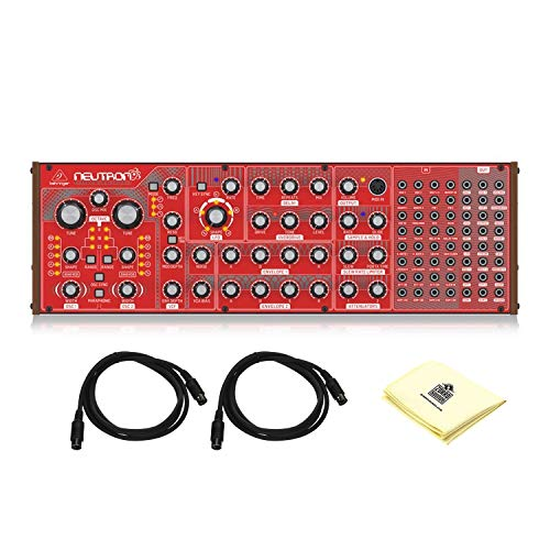 Behringer Neutron Paraphonic Analog and Semi Modular Synthesizer with Authentic Dual 3340 Analog Oscillators and Overdrive Circuit in a Eurorack Format BUNDLE with 2 x MIDI Cable and Zorro Cloth