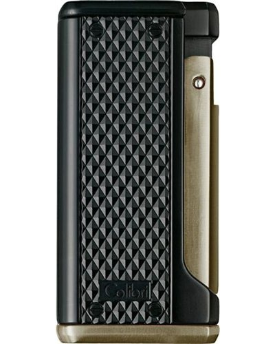 Colibri Monza Matte Black & Anodized Gunmetal Jet Flame Lighter