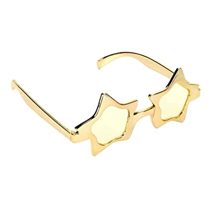7449bee86a Prettyia Glitter Gold Five-point Star Sunglasses Novelty Party Eye Glasses  Costume