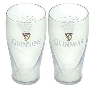 Juego de 2 vasos Guinness