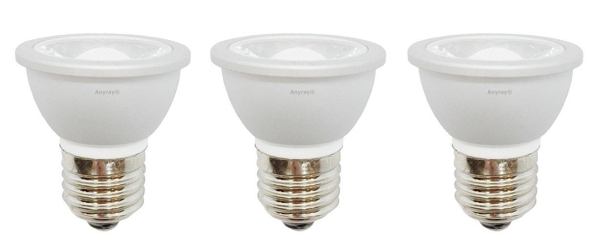 3-LED Light Bulbs HR16 120V E27 MR-16 JDR C Hood Lamp Short Neck E26 (Warm White)