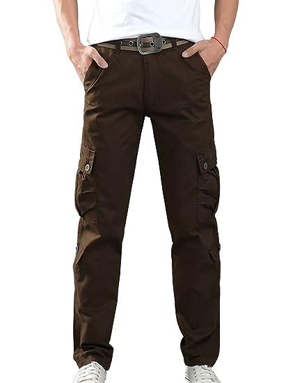LaoZan Herren Cargohose Chino Stoff Hose Übergröße Lang Arbeitshose  Freizeithose Militär Hose  Amazon.de  Bekleidung fb88da64aa