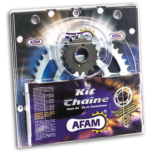 passend f/ür Aprilia RS4 125 Bj.2017 13-60-136 AFAM428M offen mit Clipschloss AFAM Kettensatz Stahl