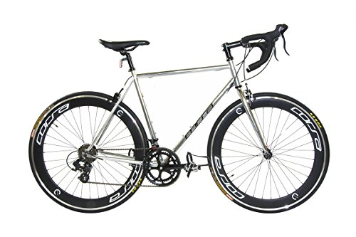 Alton Corsa R-14D 700C Deep-Dish Rim Road Bike, Silver, 22.8'/Large