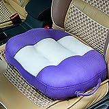 MYtodo Summer Learning Car Driving Thicken Net Yarn Cushion Car Chair  Cushion (Purple)