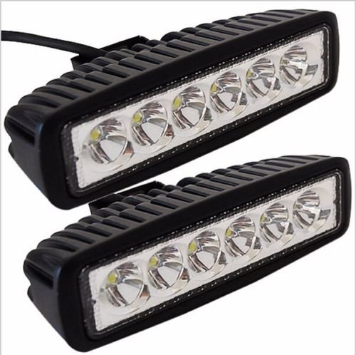 "2 x 18W 6"" FLOOD Led Bar Work Light Boat Car Truck Lamp SUV UTE ATV offroad"