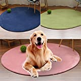 Glumes Soft Comfortable Round Pet Blanket Warm Fleece Blanket Sleep Mat Pad Bed Cover Suitable for Puppy Dog CatIdeal