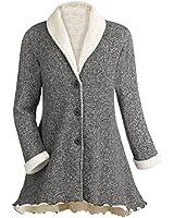 Women's French Terry Jacket - Krissy Heather Gray Coat