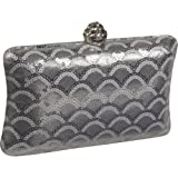 J. Furmani Silver clutch (Silver), Bags Central