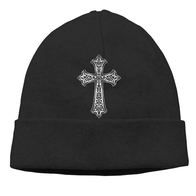 92f939a21db8c Christian Jesus Cross Mens Beanie Cap Skull Cap Winter Warm Knitting Hats.  at Amazon Men s Clothing store