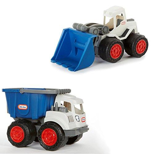 Little Tikes Dirt Diggers Big Truck Bundle - Front Loader & Dump Truck (Blue)