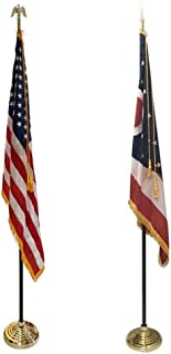 product image for 3x5' Ohio State Indoor Flag Set with 3x5' United States Indoor Flag Set for Display!