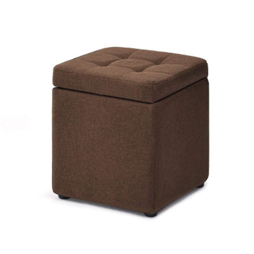 Erwachsener Sofa-Hocker-Sitz-Haushalts-Aufbewahrungsbox Quadratische Sofa-Bank Mit Stabilem Kordelzug Und Abnutzungskissen-Design Kreativer Einfarbiger Aufbewahrungsschemel