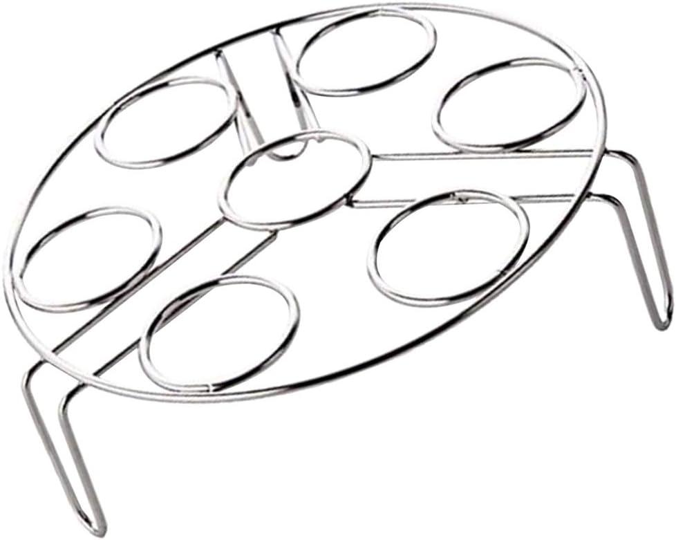175X55mm Baoblaze Paniers Cuit Vapeur en Acier Inoxydable Panier Vapeur Cuit Support Doeufs Grille /à Vapeur Cuisine Bouillir 7 Oeufs Diam/ètre 17.5cm