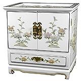 Oriental Furniture Empress Lacquer Jewel Box (White)