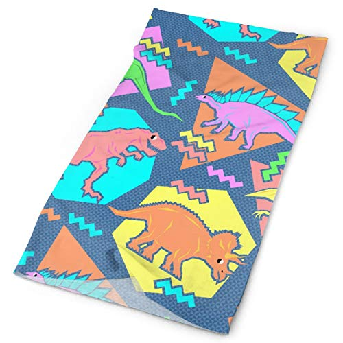 MrDecor Outdoor Magic Headband Elastic Seamless Bandana Scarf UV Resistence Sport Headwear 90s Funny Dinosaurs ()