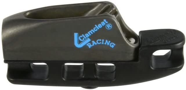 Pair of black plastic Clamcleats cl203 Junior for 3-6 mm cord VGC