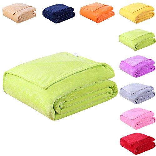 Full Color Throw - EASTSURE Spring Blanket Soft Flannel Fleece Blanket Luxury Bed Sofa Throw Lightweight Summer,Green,40